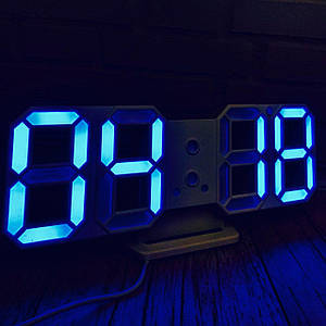 Электронные настольные Led часы с будильником 2218 Blue