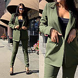 Женский брючный костюм с зауженными брюками и пиджаком 5810138, фото 2