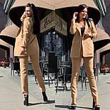 Женский брючный костюм с зауженными брюками и пиджаком 5810138, фото 6