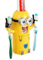 Дозатор зубної пасти Міньйон Жовтий, фото 1