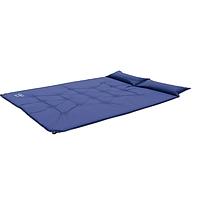 Самонадувающийся спальный коврик Wolf Leader  Синий