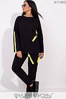 Женский спортивный костюм в больших размерах с накладными карманами 115190