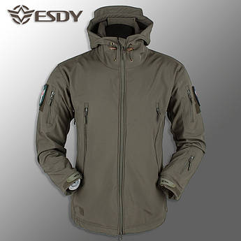 "🔥 Куртка Soft Shell ""ESDY. TAC-105"" - Олива (непромокаемая куртка, куртка нацгвардии)"
