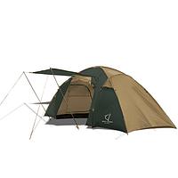 Палатка двухкомнатная Wolf Leader X-Large 4-места Желтый