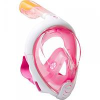 Маска для снорклинга (подводного плавания) Subea Easybreath S/M розовая, фото 1