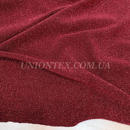 Трикотаж люрекс бордовый, фото 2