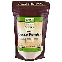 """Органический сырой какао-порошок NOW Foods """"Organic Raw Cacao Powder"""" (340 г)"""