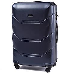 Чемодан пластиковый на 4 колесах Wings 147 Большой (L) Синий