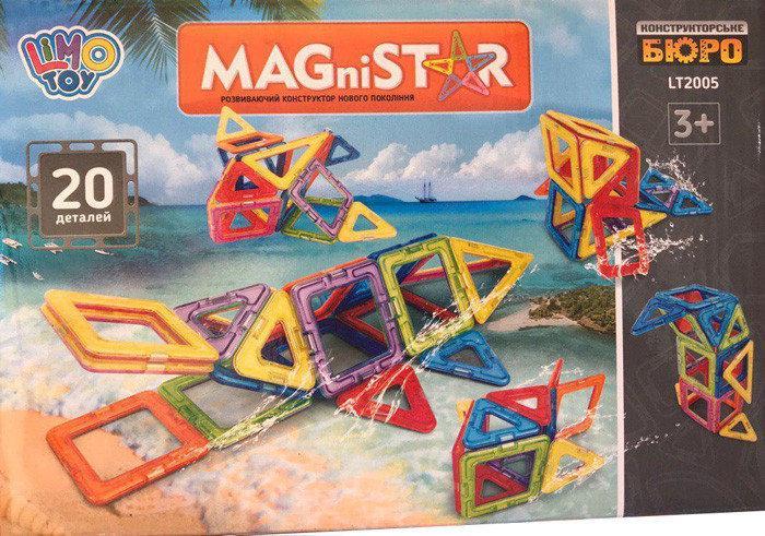 Магнітний конструктор LT2005, 20 деталей