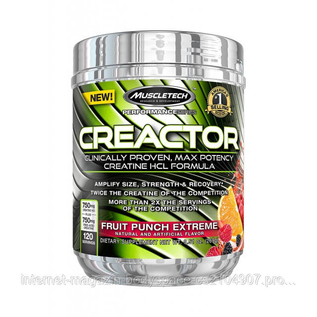 MuscleTech, Креатин Creactor 240 грамм (120 порций)