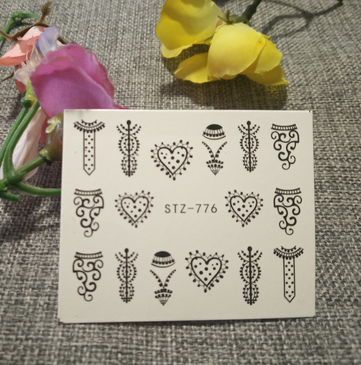 Слайдер-дизайн для ногтей (водные наклейки на ногти) STZ-776