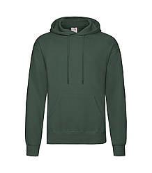 Мужская толстовка с капюшоном темно-зеленая 208-38