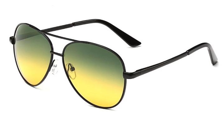 Мужские антибликовые очки 2в1 (Очки для водителей)