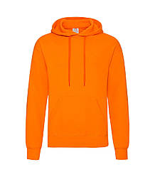 Мужская толстовка с капюшоном оранжевая 208-44