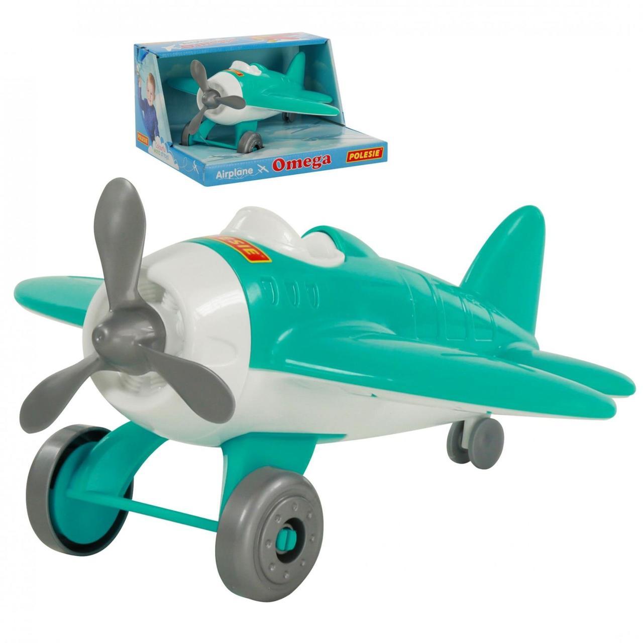 """Игрушка Polesie самолёт """"Омега"""" (в коробке) бирюзовый (70272-1)"""