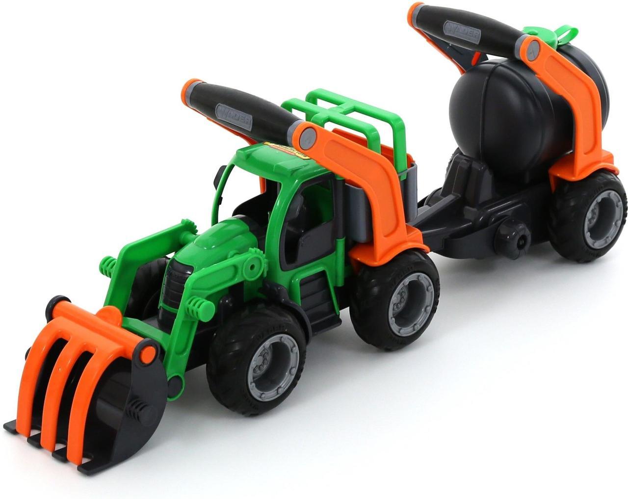 """Игрушка Polesie """"ГрипТрак"""" трактор-погрузчик с цистерной (в коробке) (37404)"""