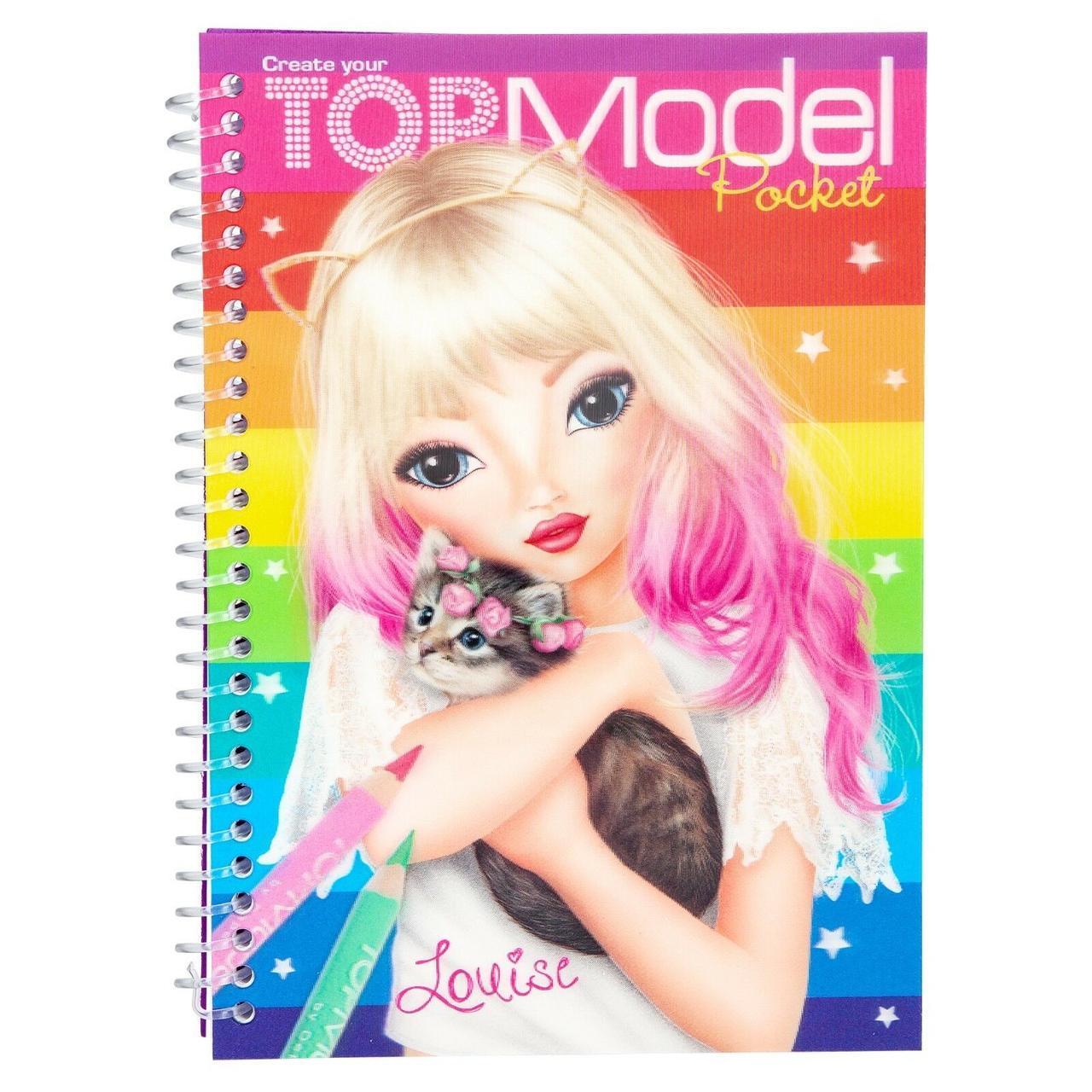 Блокнот розмальовка TOPModel Дизайнер Одягу з 3D ефектом - голограмою, Блокнот Top Model