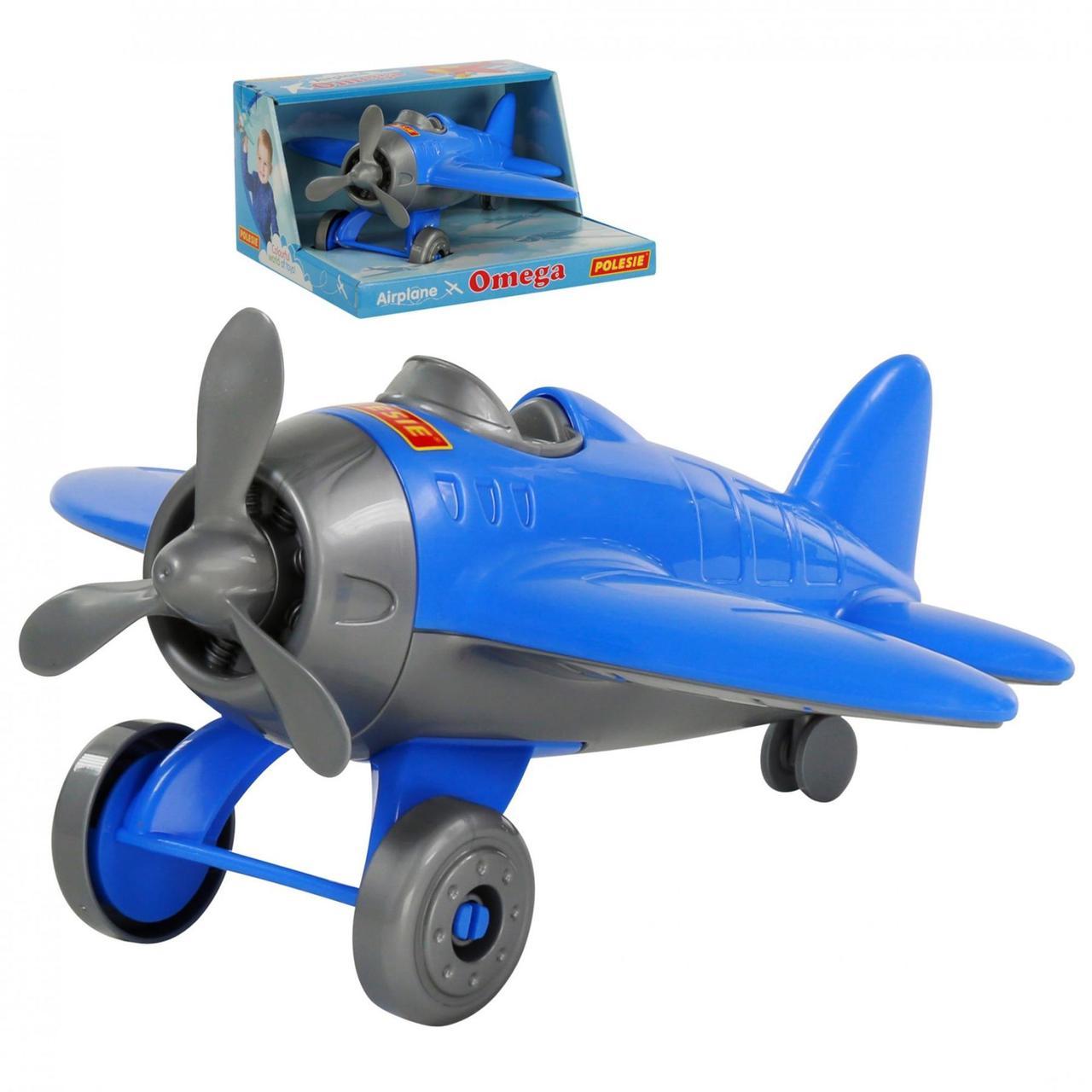 """Игрушка Polesie самолёт """"Омега"""" (в коробке) синий (70272-2)"""