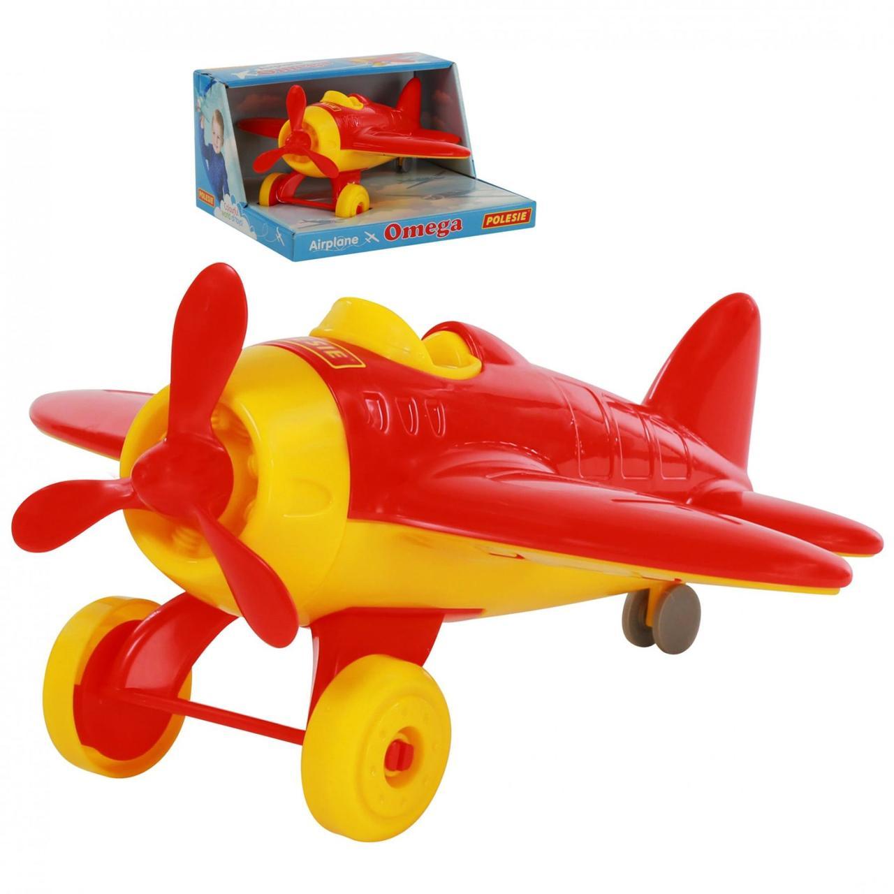 """Игрушка Polesie самолёт """"Омега"""" (в коробке) красный (70272-3)"""