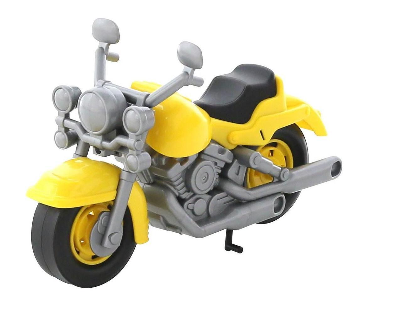 """Игрушка Polesie мотоцикл гоночный """"Кросс"""" желтый (6232-3)"""