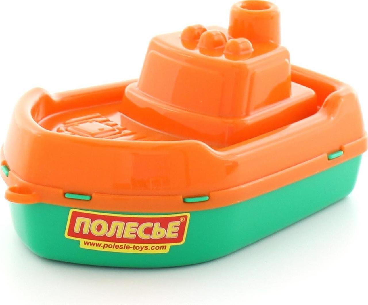 """Игрушка для ванной, Кораблик """"Волна"""" оранжевый (36681-1), Полесье"""