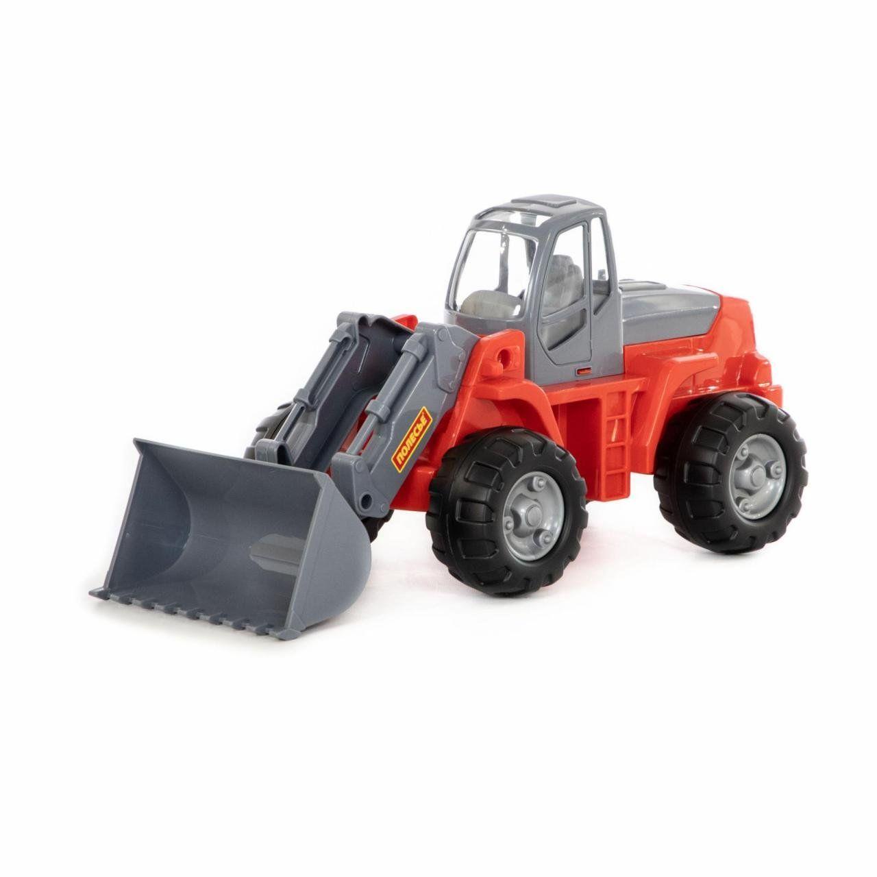 Игрушка Polesie трактор-погрузчик красный в сеточке (8886-1)