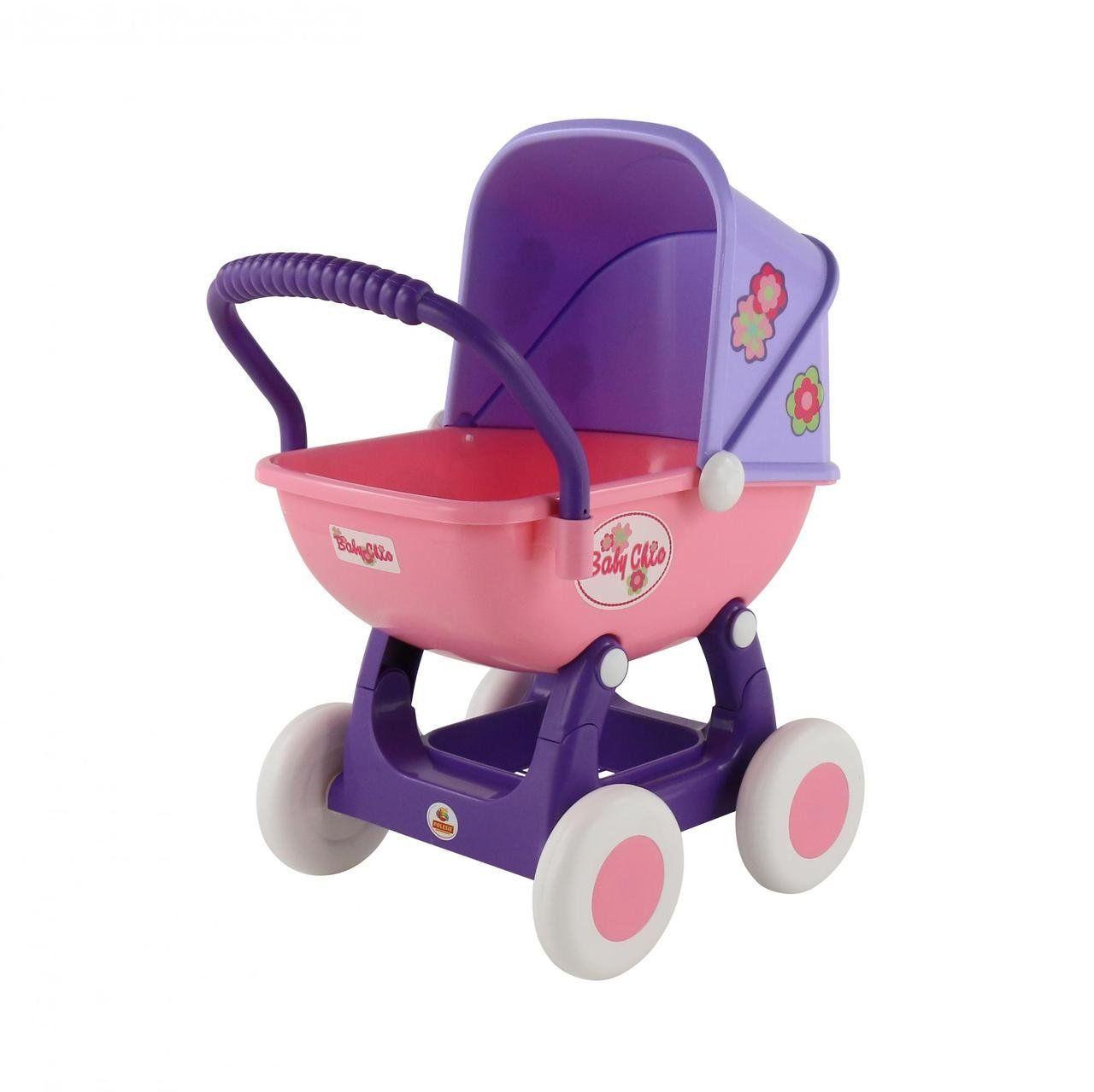 """Игрушечная коляска для детей 4-х колёсная, фиолетовый, Polesie """"Arina"""" (48202-2)"""