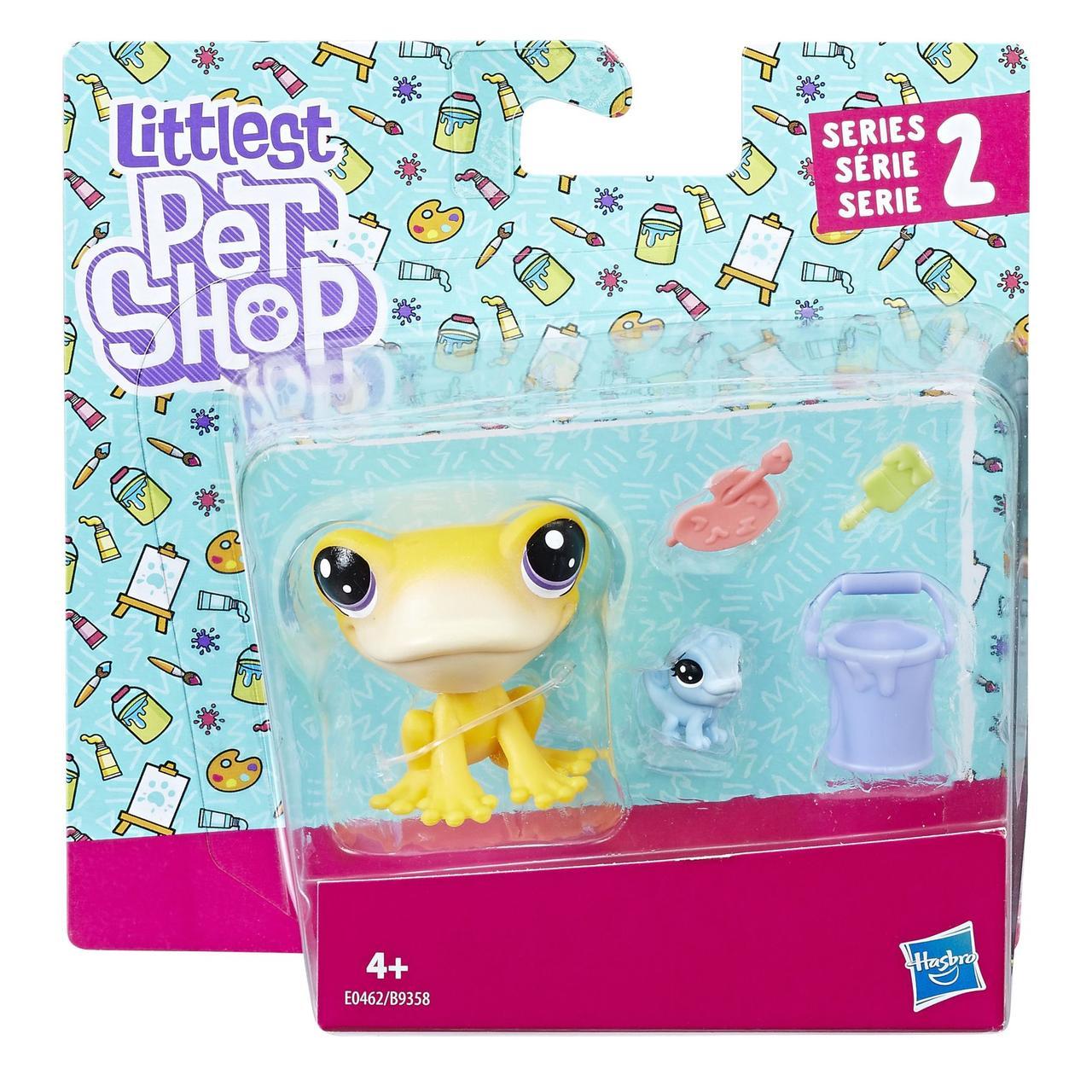 Фигурка Hasbro Littlest Pet Shop набор из двух петов лягушонок с аксессуарами (B9358_E0462)