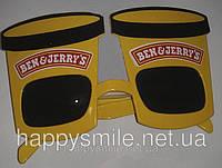Карнавальные очки мороженое «Ben & Jerry's»