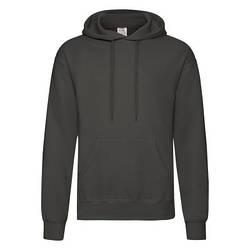 Мужская толстовка с капюшоном темно-серая 208-GL