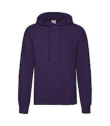 Мужская толстовка с капюшоном фиолетовая 208-РЕ