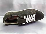 Стильные нубуковые кеды,кроссовки милитари Madoks, фото 8