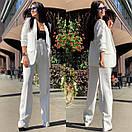 Женский брючный костюм с брюками клеш с завышенной талией и пиджаком 58ks137, фото 7