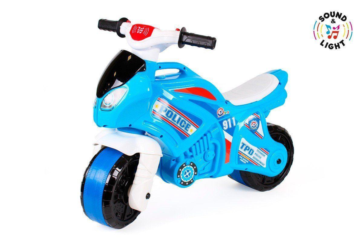 Мотоцикл толкар беговел Технок, Полицейский (5781)