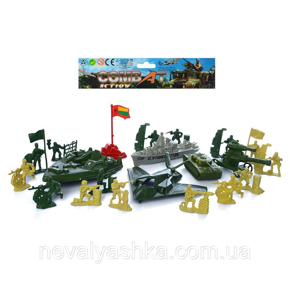 Комбат, Военный Игровой Набор,военная техника, солдатики, в кульке, 933-N11 007825