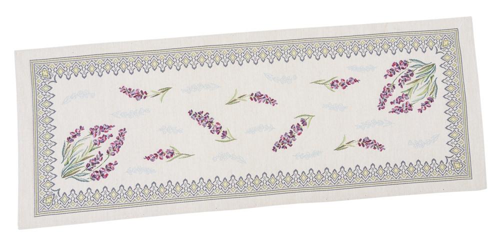 Наперон гобеленовый дорожка на стол раннер цветочный принт 37 х 100 см