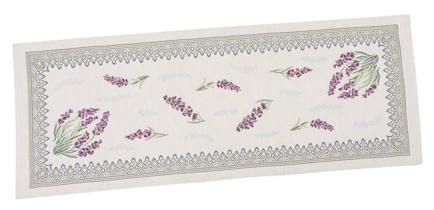 Наперон гобеленовый дорожка на стол раннер цветочный принт 37 х 100 см, фото 2