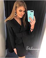 Женское платье-пиджак в черном цвете