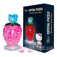 3D Crystal Puzzle - Hello Kitty ягода (пазл с подсветкой)