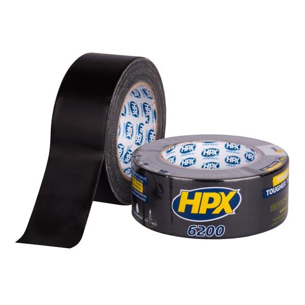 HPX 6200 - армированная ремонтная лента (скотч), черная - 25м
