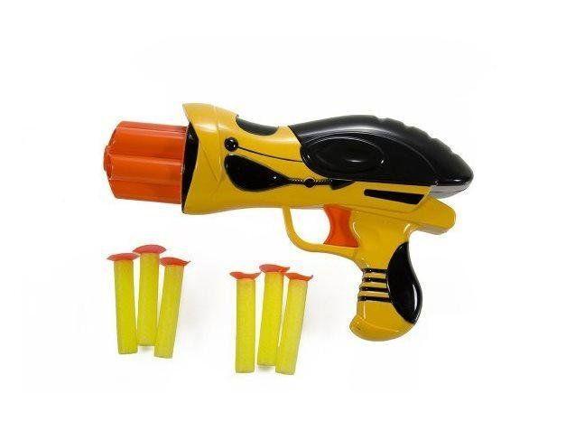 """Пистолет с присосками, Mission-Target """"Шмель"""" желтый (WG102613-1)"""