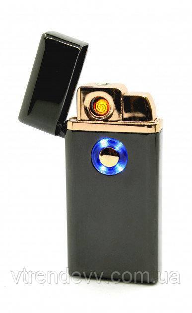Зажигалка газ и электро USB Tenghong HL-22 Черная