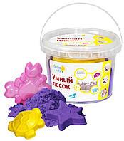 Живой кинетический песок для творчества, 0.5 кг, фиолетовый (SSR052) Genio Kids-Art