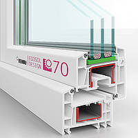 Rehau Е70  пятикамерные энергосберегающие окна