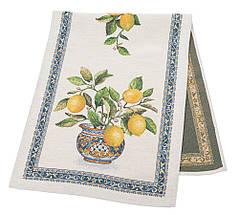 Наперон гобеленовый тканевый дорожка на стол раннер лимоны 37 х 100 см, фото 2