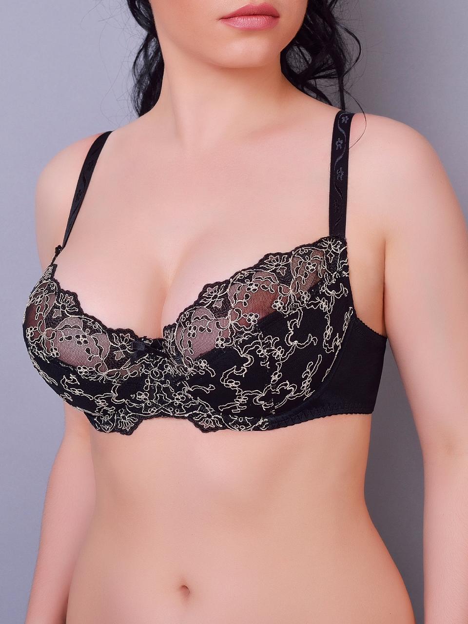 Бюстгальтер Diorella 61198D, цвет Черно-Коричневый, размер 75D