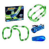 Детский гибкий трек, (трубопроводный авто трек) 52 эл. Qunxing toys