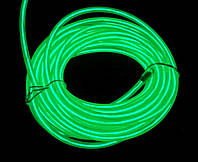 Неоновый провод 3-го поколения 2,2 мм—зеленый.