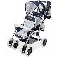 Игрушечная коляска для куклы Decuevas  Twins Blue с сумкой