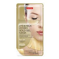 Гидрогелевые патчи для кожи вокруг глаз и области шеи PUREDERM Eye & Neck Hydro Gold Gel Mask